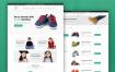 儿童服装电子商务网页界面设计素材下载