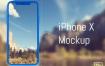 iPhone X金属和黑色磨砂版本模型素材下载,提供psd格式素材源文件