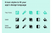 185个照片和视频编辑器UI和更多的6种风格的简洁图标优质设计素材下载
