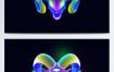 34款星空唯美幻想之光流体渐变酷炫光动物手机H5海报psd模板设计素材