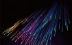 9款彩色渐变发光放射线条素材EPS源文件打包下载