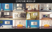 12个不同真实场景墙上的图片展示模型样机素材包PSD原文件
