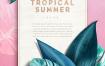 14款夏季热带植物花卉夏威夷邀请函海报PSD模板素材 -资源大小2.75GB,包含PSD源文件