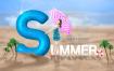 17款清爽清凉夏日沙滩海滩沙雕冲浪海边阳光海报PSD模板素材 -资源大小2.33GB,包含PSD源文件