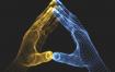 17款创意粒子科技未来点线手势人工智能手模型矢量素材EPS源文件
