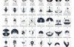 100款欧美ins风黑白手绘插画纹身涂鸦花臂图案矢量AI源文件设计素材