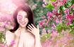 11款春暖花开春季鲜花亚洲女性模特psd海报素材 – 资源大小1.18GB,包含PSD源文件