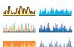 38款音乐声波线条立体声音波形均衡器曲线音量显示背景AI矢量设计素材