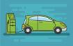 18款矢量绿色汽车或电子汽车矢量源文件下载