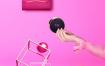 22款时尚3d立体创意撞色宣传海报模板鞋包化妆品PSD广告素材图