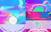 38款流体渐变电商淘宝首页banner炫彩几何图背景海报展板psd素材模板