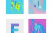 16套时尚创意渐变抽象海报打包下载