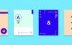 30款简洁现代几何扁平化海报创意平面广告设计封面版式矢量素材模板