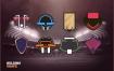 可自由组合的体育主题LOGO设计模板矢量素材下载