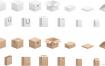 各种漂亮立体包装盒矢量素材