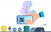 8款金融财务区块链支付2D场景插图矢量设计素材