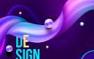 19款时尚创意渐变蒸汽波元素海报模板高清背景PSD平面设计素材