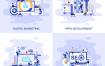 40个有趣的扁平化平面概念插画矢量素材