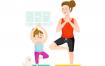 14款亲子时光插画母女母子互动瑜伽购物烘焙插图AI矢量设计素材