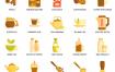 80个咖啡馆餐馆咖啡图标素材下载