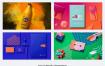 500+单色小清新生活常用物品展示样机包PSD源文件下载资源大小5.5GB,包含100+个PSD源文件