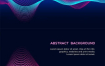 5款彩色动态概念波浪高清矢量背景图素材