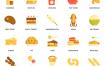 100个食物饮料扁平化风格图标素材下载