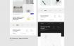 简洁企业网站设计模板素材下载(提供Sketch格式下载)