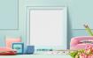 10款小清新清爽护肤品化妆品包装名片VI设计展示贴图样机模板高清摄影图片ps素材