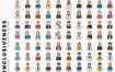 350个头像图标设计素材下载