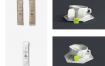 35款精品咖啡厅奶茶餐厅包装vi设计菜单展示贴图样机PSD模板平面设计素材
