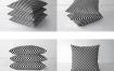 座垫靠垫抱枕缝纫元素VI应用效果 PS分层模板素材PSD智能贴图样机