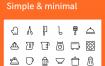 100超级简单的厨房图标设计素材下载