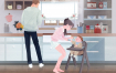 7款育儿母婴亲子活动插画一家三口插图海报模板PSD分层设计素材