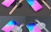 三星Galaxy S10 +和Galaxy Gear Mockup模型素材下载