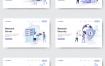 10款互联网云计算网络连接数据UI网页插图插画矢量APP设计素材
