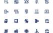 180银行像素完美集合图标设计素材下载