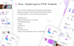 现代企业网站HTML模板素材下载