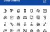 28线型智能家居设备图标素材下载