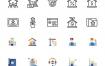 180房地产像素完美图标集合优质设计素材下载