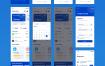 27个蓝色系银行钱包应用app设计优质设计素材下载(提供Sketch格式下载)