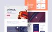 4个高级和独特的企业网站设计优质设计素材下载