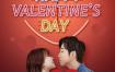 17款情人节心心love巧克力鲜花丝带粉色背景海报PSD设计素材