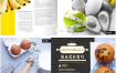39款餐饮美食鲜菇八宝面冰激凌蔬菜美味画册海报PSD设计素材