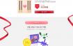 16款七夕情侣情人节玫瑰巧克力点心礼物浪漫网页海报PSD设计素材