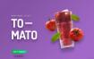 10款多彩彩色鲜艳健康水果果汁创意海报高清PSD素材