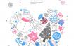 10款圣诞节装饰雪花雪人礼物圣诞树咖啡靴子海报PSD设计素材