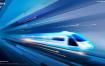 10款未来城市高速发展高铁大气PPT建筑背景海报模板PSD设计素材