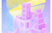 11款梦幻城市门都市色彩渐变房地产海报广告PSD分层设计素材
