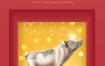 8款新年小猪年网页红火春节灯笼PSD设计素材
